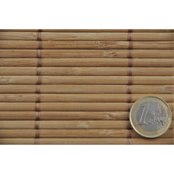 Tatami Bamboo mat 4.5 mm Smoked Glued on textile