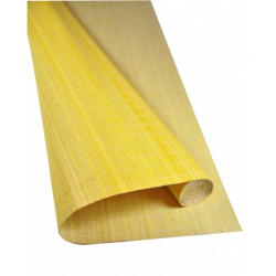 Yellow Tatami Bamboo mat Glued on textile 4.5 mm