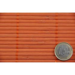 Orange Tatami Bamboo mat Glued on textile 4.5 mm