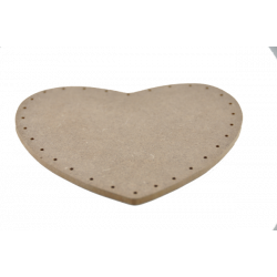 Plywood back heart