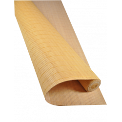 Natte Bambou 7mm Moutarde sur Tissu 180cmx500cm