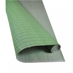 Bamboo mat Glued on textile 7mm Green color