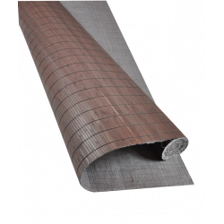 Bamboo mat Glued on textile 7mm Wenge color